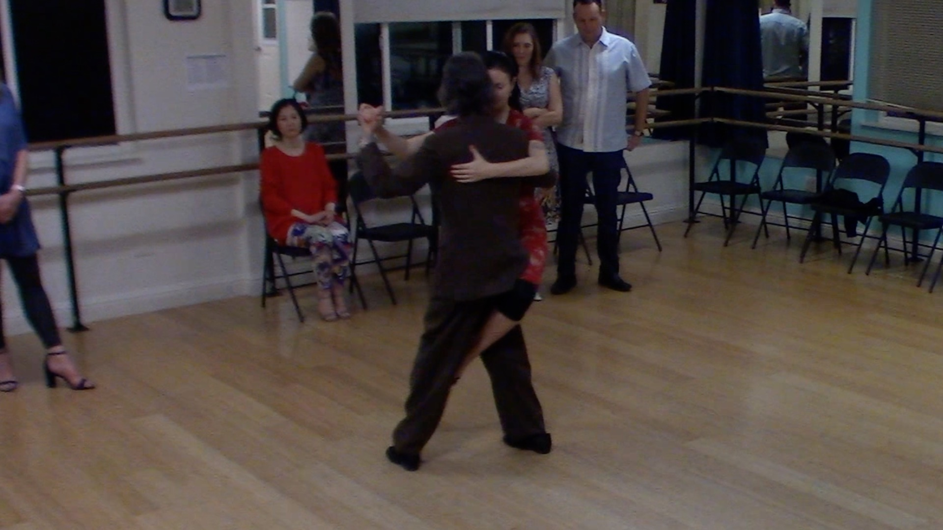 Argentine Tango dancing with Miranda at our beginner class in Lafayette