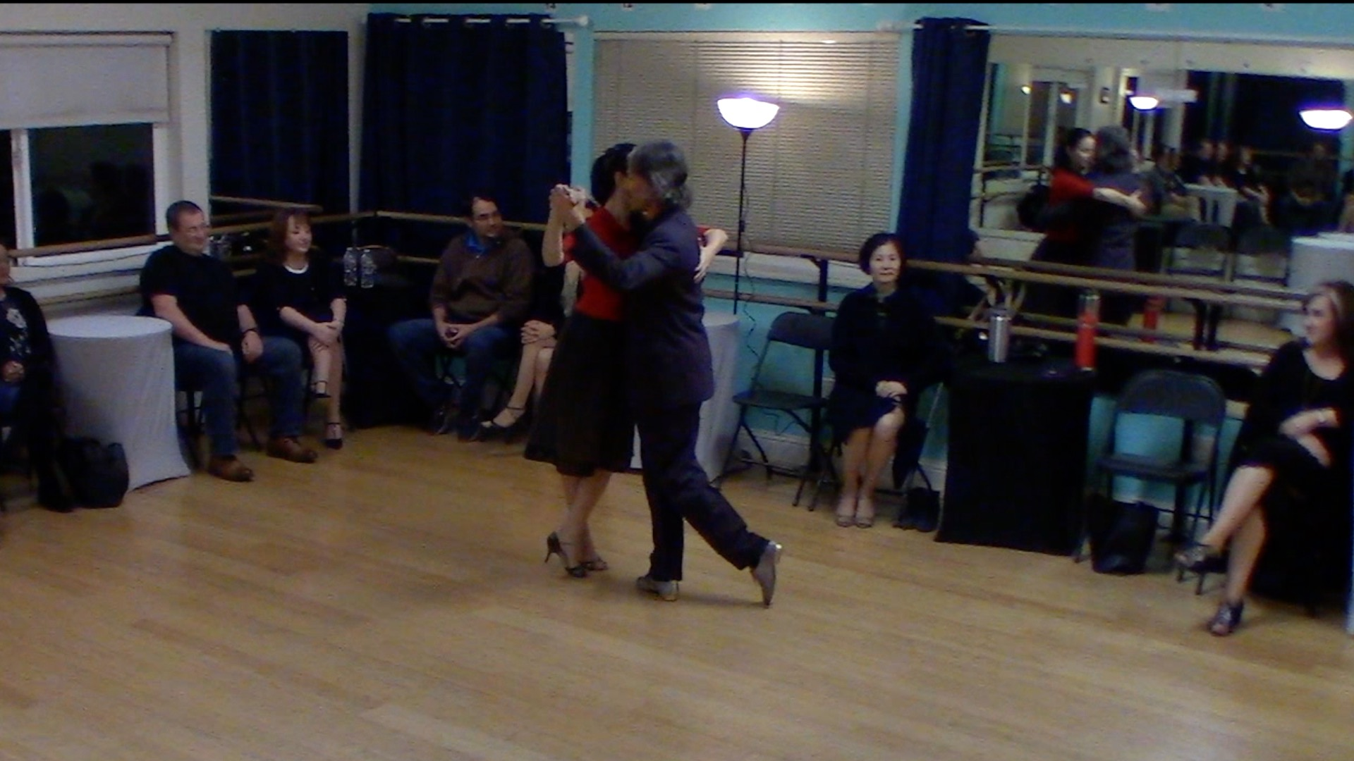 Argentine Tango dance performance with Miranda for new students in Lafayette, California