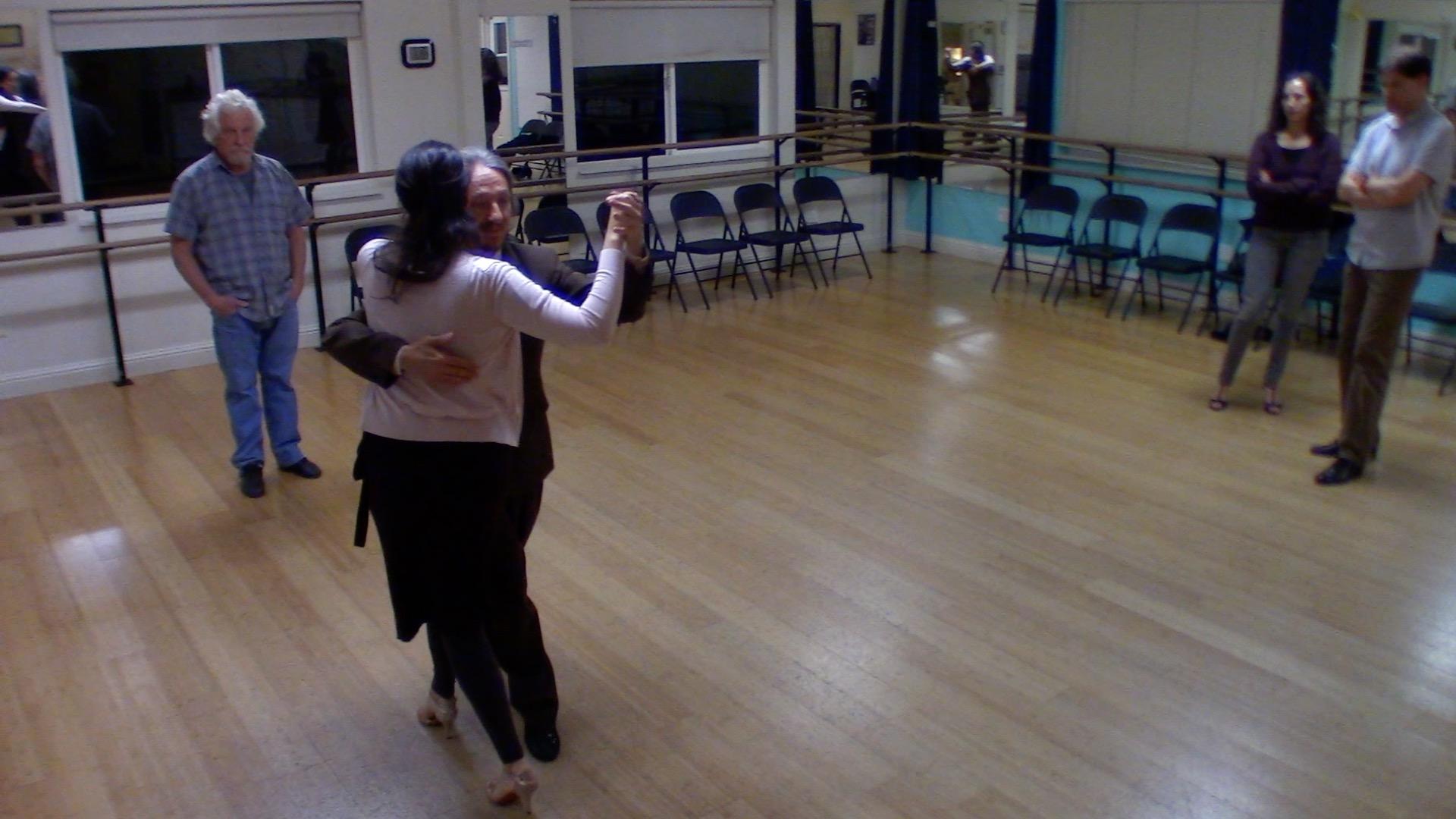 Argentine Tango intermediate class with Mimi: backward ocho variation