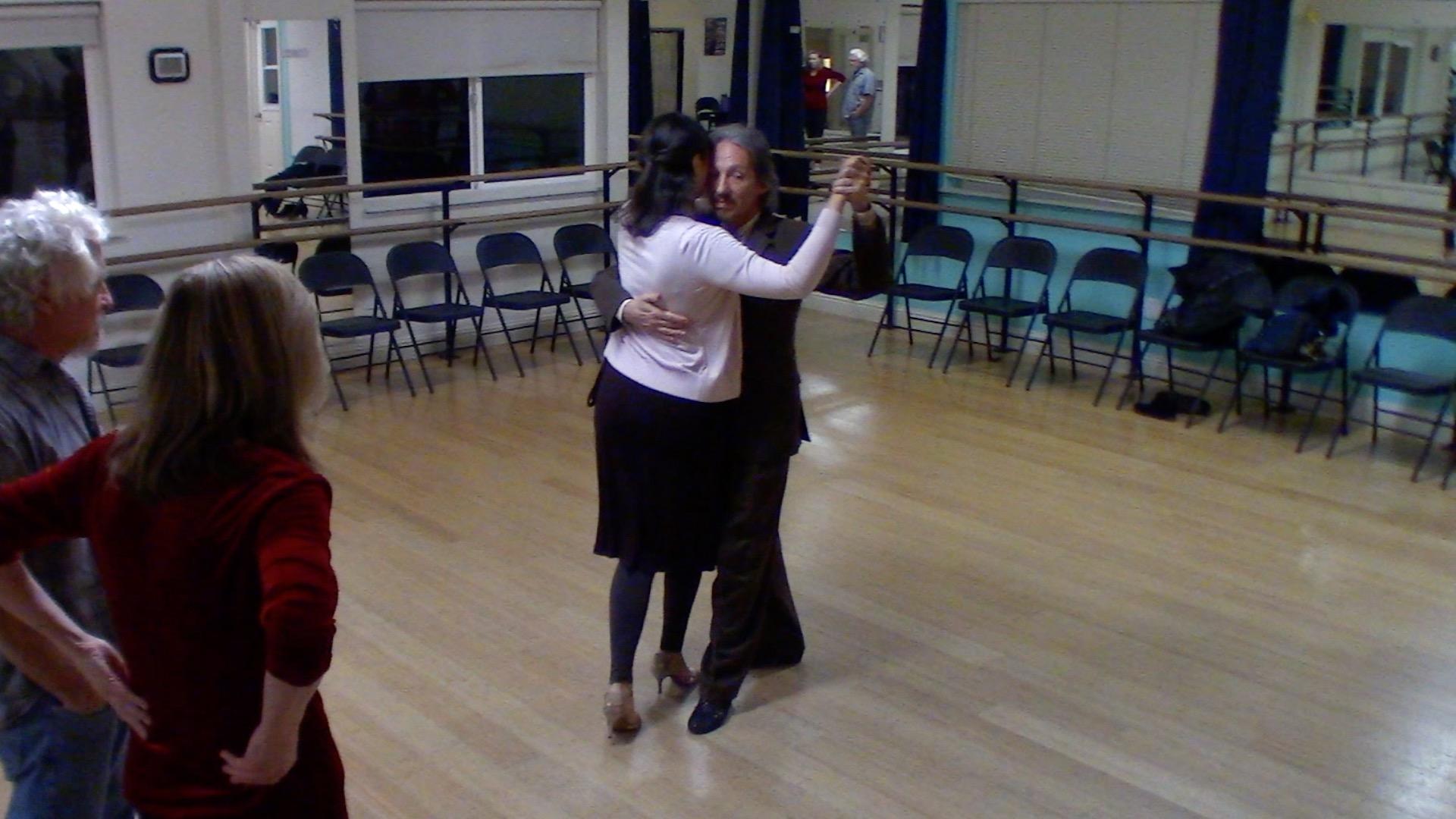 Argentine Tango intermediate class with Mimi: backward ocho