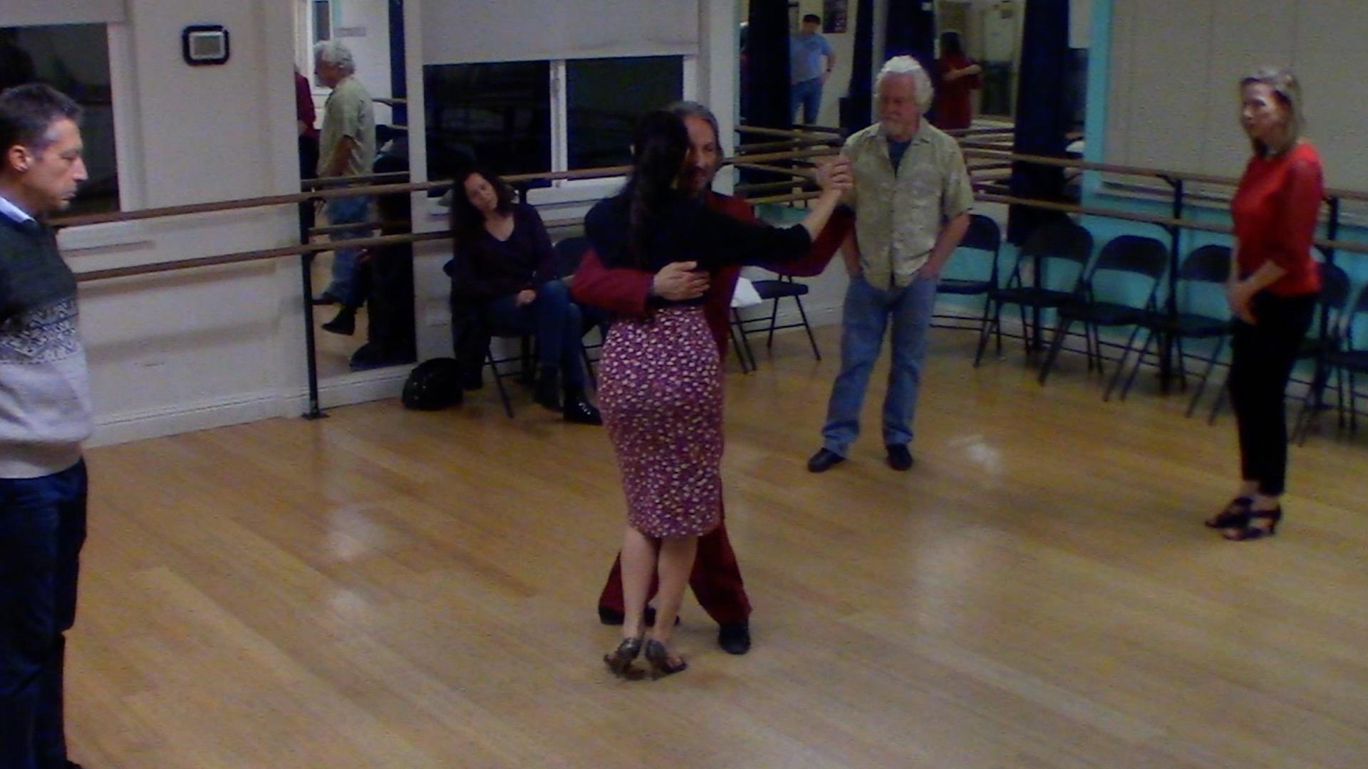 Argentine Tango intermediate class with Miranda: calecita (carousel) and backward ocho