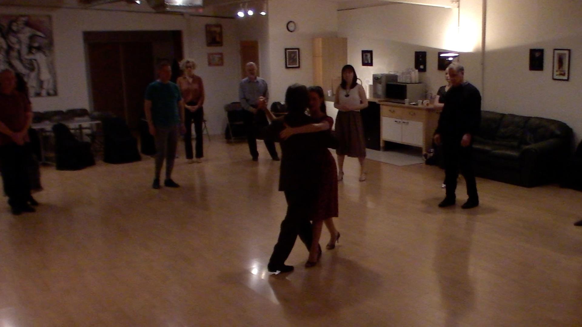 Argentine Tango intermediate class with Miranda: forward-backward move