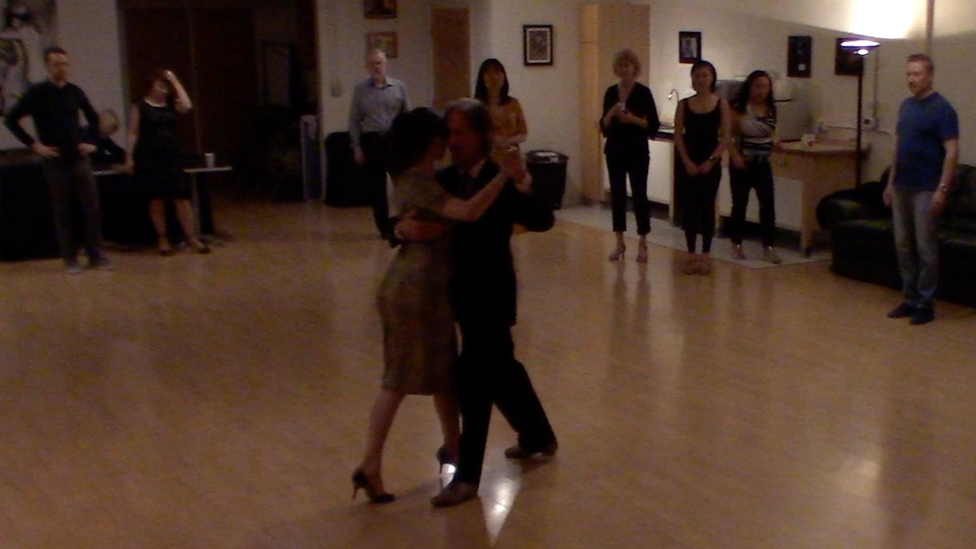 Argentine Tango intermediate class with Miranda: forward ochos sequence