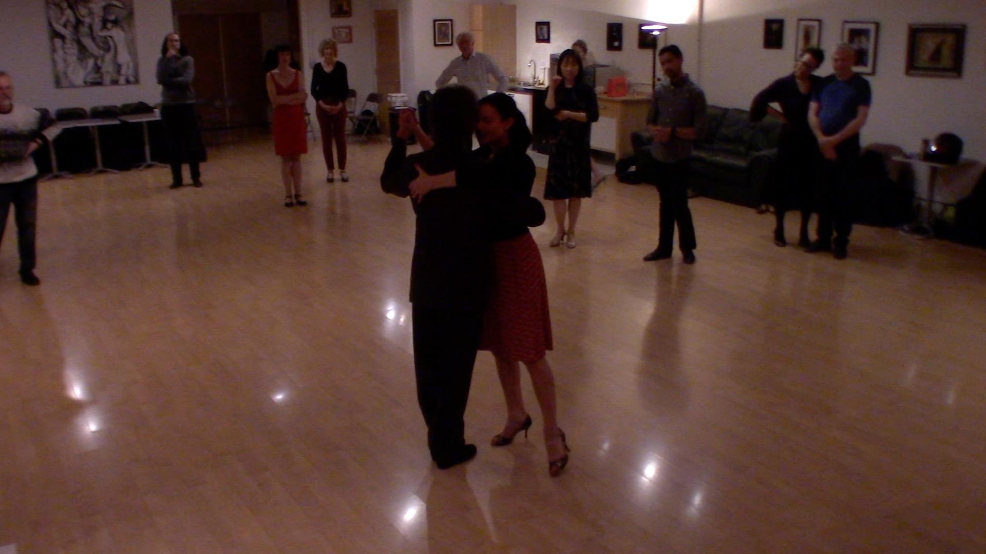 Argentine Tango intermediate class with Miranda: slow in 3 combinations 2