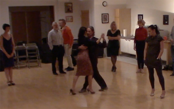 Argentine Tango intermediate class with Miranda_ Crossed system walk variations review