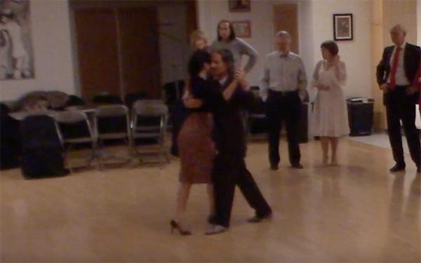 Argentine Tango intermediate class with Miranda_ crossed system walk