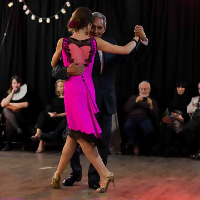 Blas Catrenau and Luciana Guido, Argentine Tango dancers, maestros milongueros.