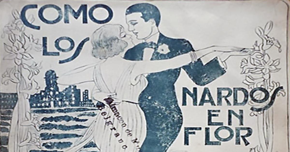 """Como los nardos en flor"", Argentine Tango music sheet cover."