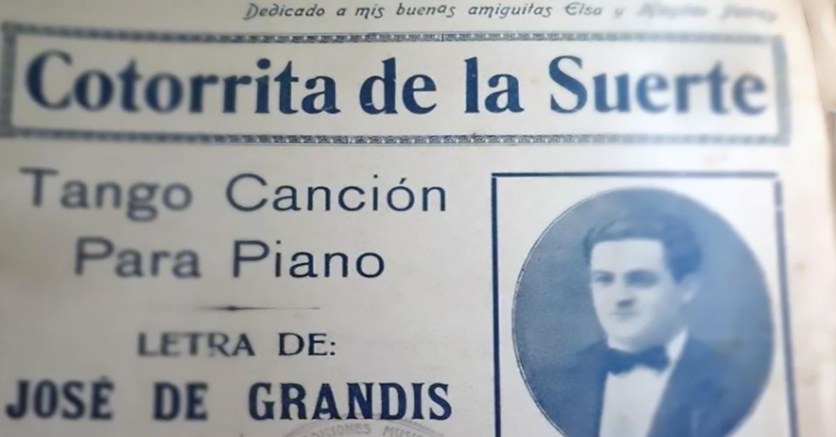 """""""Cotorrita de la suerte"""", Argentine Tango music sheet cover."""