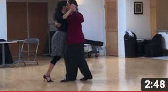 Dancing with Miranda at Escuela de Tango de Buenos Aires