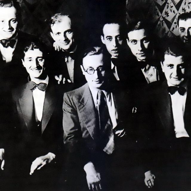 Edgardo Donato, Argentine Tango musician, leader and composer, with his orchestra.