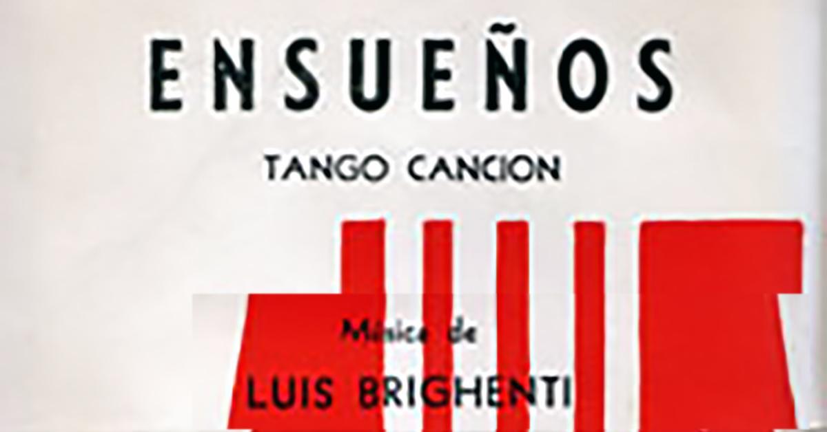 """Ensueños"", Argentine Tango music sheet cover."