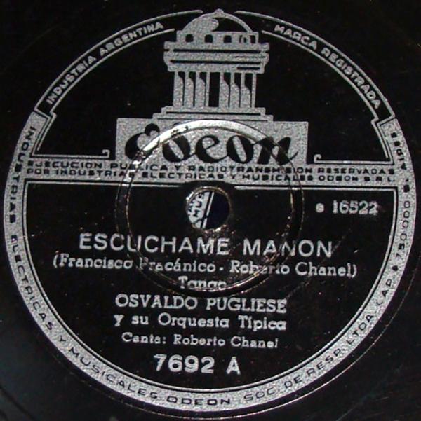 """""""Escuchame Manón"""", Argentine Tango song."""