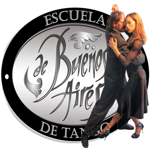 Escuela de Tango de Buenos Aires - Marcelo Solis - Logo circular corrected with couple dancing (favicon)