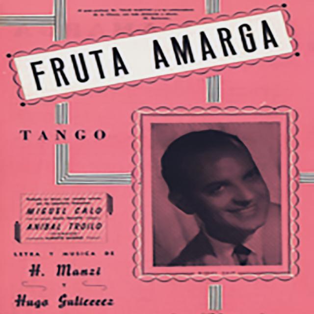 """Fruta amarga"", Argentine Tango music sheet cover."