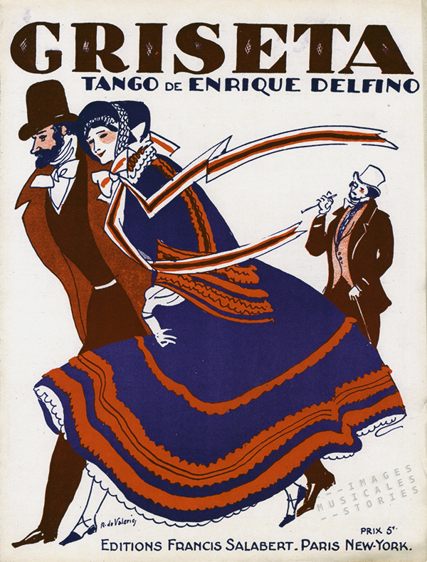 """Griseta"", Argentine Tango music sheet cover."