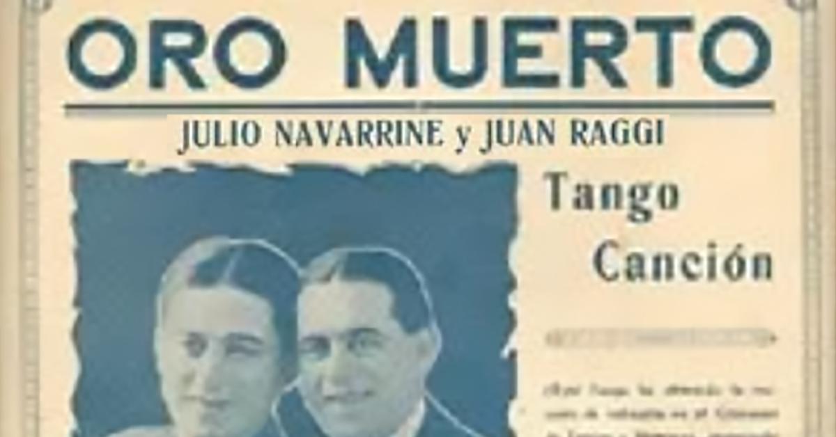 """Jirón porteño"", Argentine Tango music sheet cover."