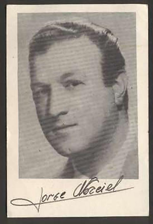 Jorge Maciel, Argentine Tango singer of the Golden Era.