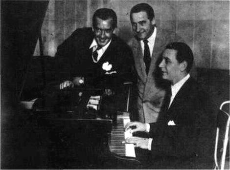 Julio Martel, Carlos Dante, Alfredo De Angelis. Escuela de Tango de Buenos Aires. Argentine music.