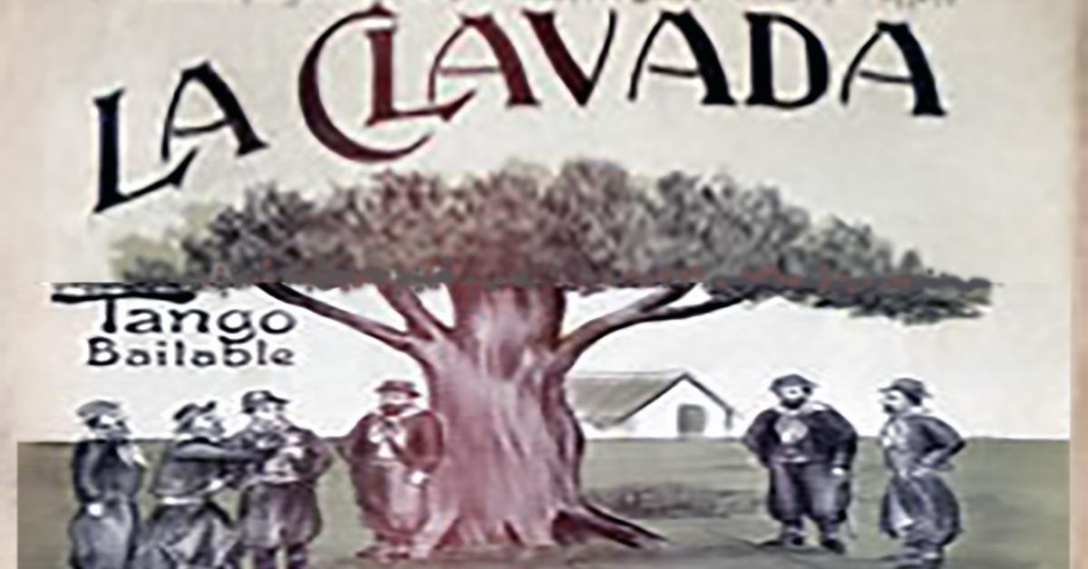 """La clavada"", Argentine Tango music sheet cover."