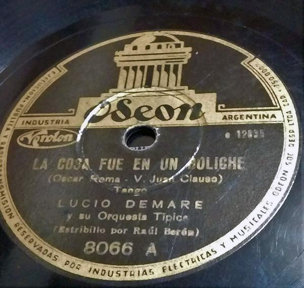 """La cosa fue en un boliche"", Argentine Tango music vinyl disc."
