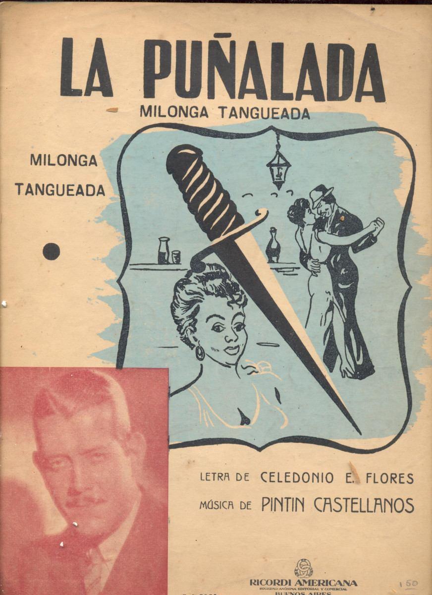 """La puñalada"", music sheet cover. Argentine Tango music."