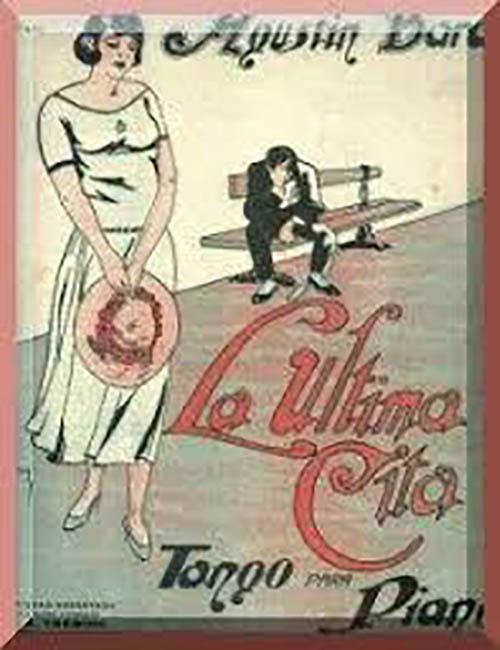 """La ultima cita"" music sheet cover   Agustín Bardi composer of Argentine Tango"