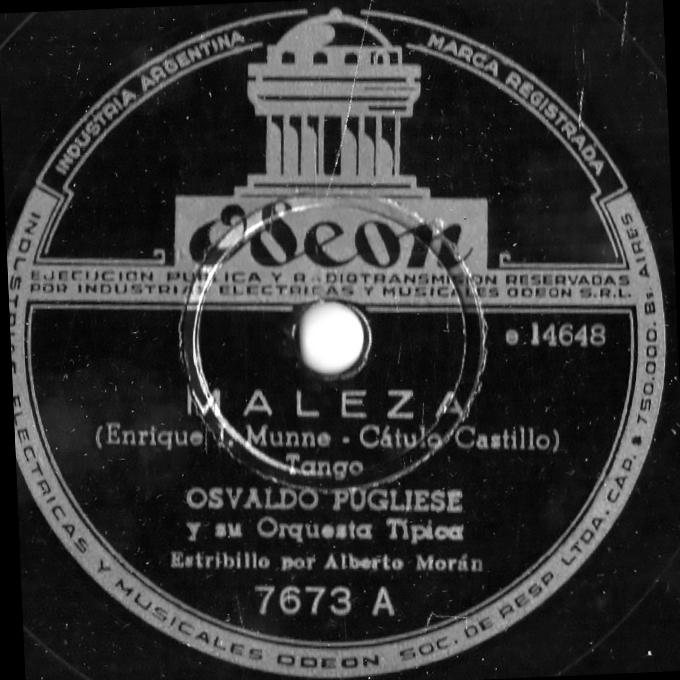 Maleza Pugliese Moran disc Argentine Tango