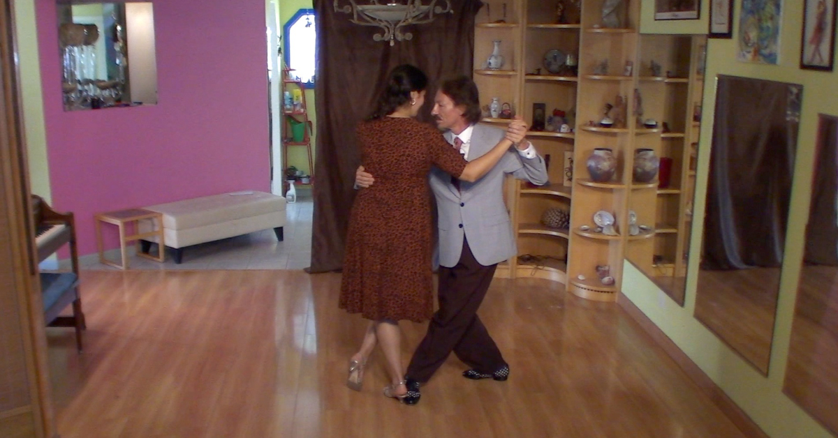 Marcelo Solis dancing Argentine Tango with Mimi.