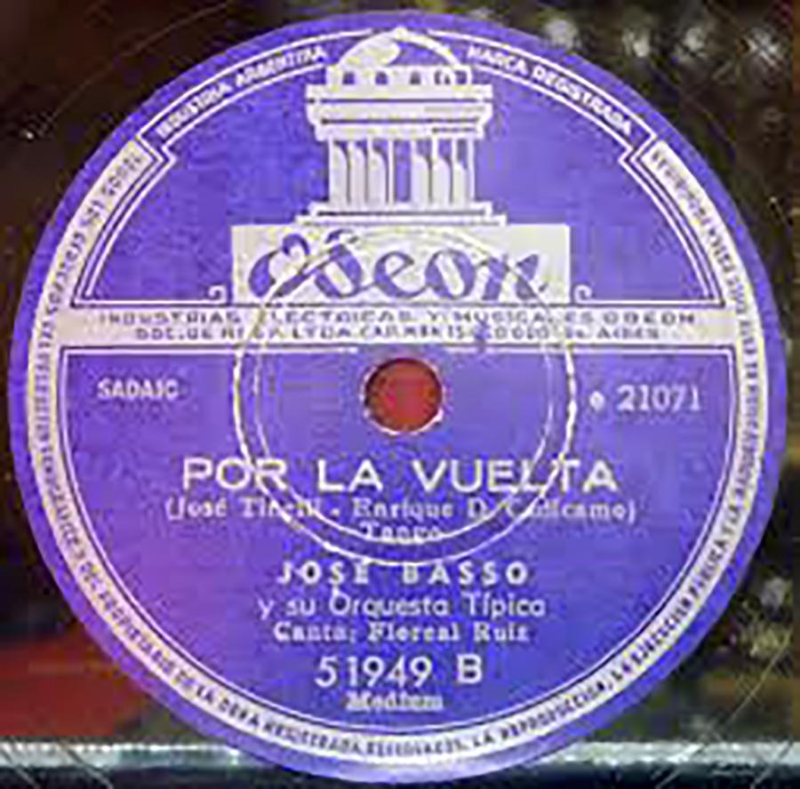 """""""Por la vuelta"""" vinyl disc"""