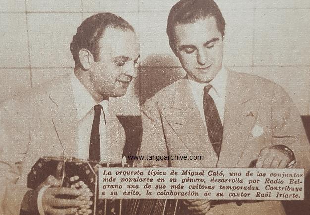 Raul Iriarte with Miguel Caló. Argentine music at Escuela de Tango de Buenos Aires.