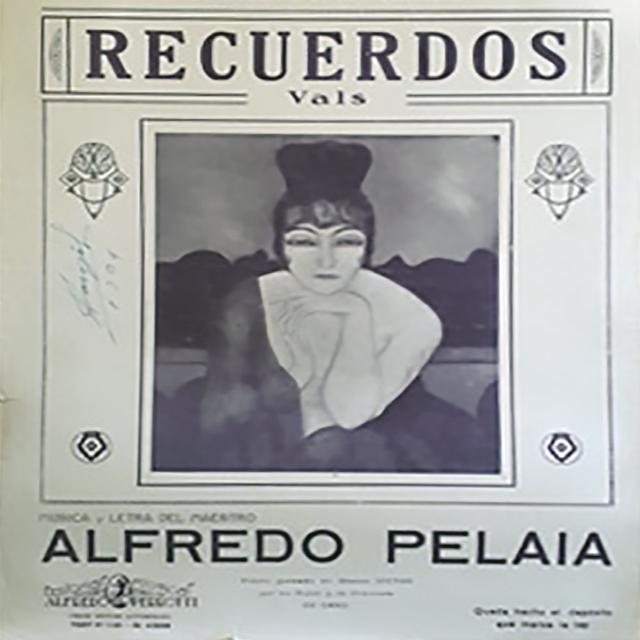 """""""Recuerdos"""", Argentine Tango vals music sheet cover."""
