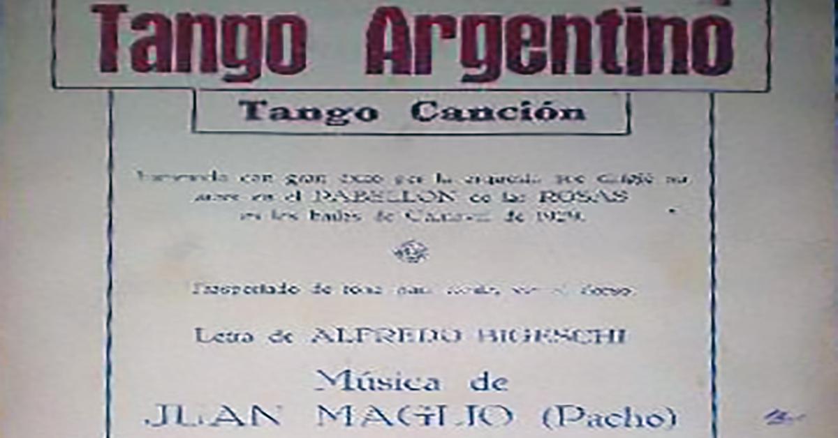 """Tango argentino"", Argentine Tango music sheet cover."