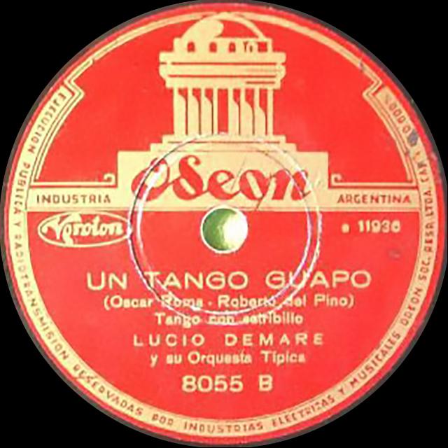 """Un Tango Guapo"" Argentine Tango vinyl disc."