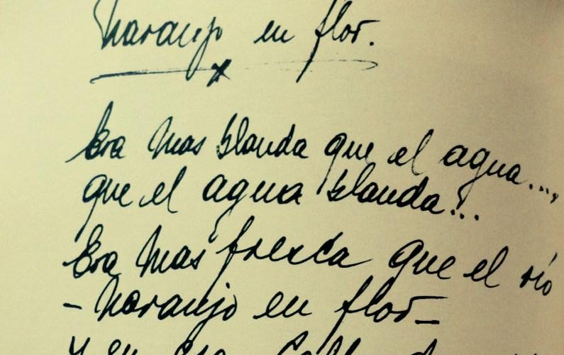 "Manuscript of ""Naranjo en flor"", Argentine Tango music."