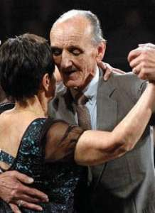 Osvaldo y Coca Cartery. Maestros milongueros. Escuela de Tango de Buenos Aires.