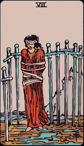 Carta de Tarot 8 de Espadas