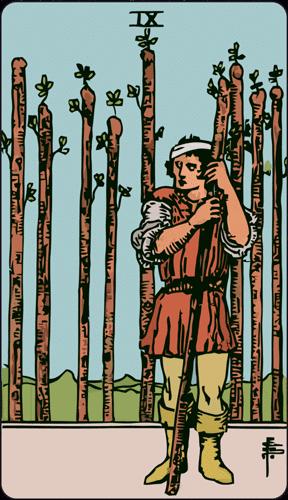 Carta de Tarot 9 de Bastos