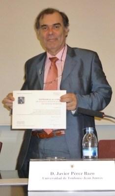 Premio VIII Juan Andres - Javier_Diploma