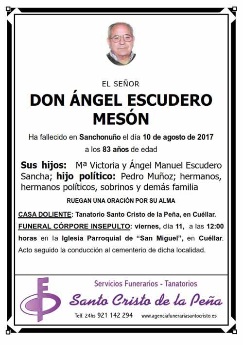 Esquela de Ángel Escudero Mesón