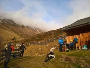 Sosta a malga Bergalm (2085 m)