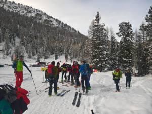Il gruppo Amici dello Sci D' Alpinismo si preparano