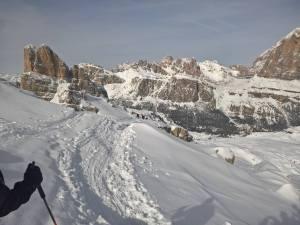 Averau (2649m) in primo piano , Lagazuoi e Tofana di Rozes