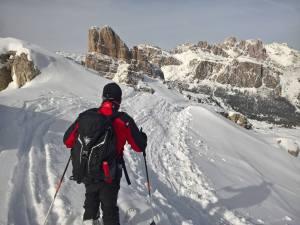 Discesa Sci-Alpinismo dal Nuvolau