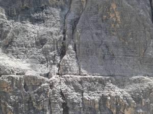 Cengia finale della Strada Degli Alpini