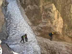 Attraversamento dell' Intaglio a 2390 m di quota