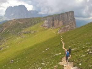 Cresta Occidentale in direzione della Forcella Dla Piza