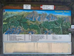 Cartello panoramica il Località Sesis (1830 m)