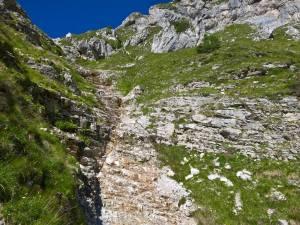 Letto di un torrente a circa 2097 m