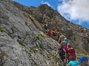 Passaggio di arrampicata facile